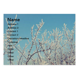 Cold winter morning business card templates