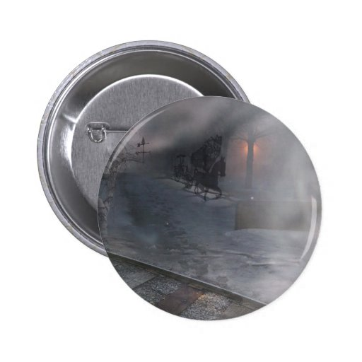 Cold Winter Night Pinback Buttons
