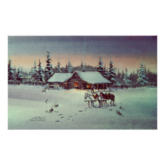 COLD WINTER NIGHT by SHARON SHARPE Poster