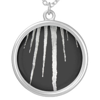 Cold Winter Night Round Pendant Necklace