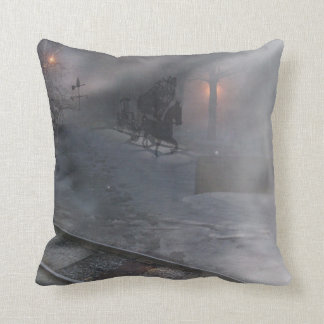 cold winter night throw cushion