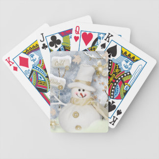 Cold Winter Snowman Bicycle Playing Cards