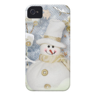 Cold Winter Snowman iPhone 4 Case-Mate Cases