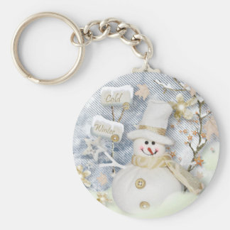 Cold Winter Snowman Key Ring