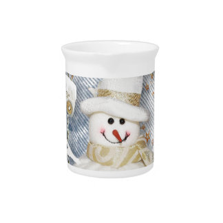 Cold Winter Snowman Pitcher