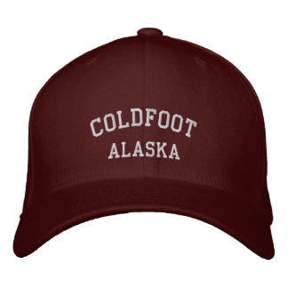 Coldfoot, Alaska Embroidered Baseball Caps