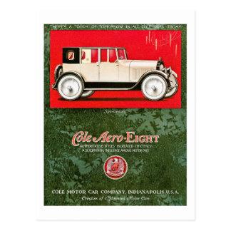 Cole Aero-Eight Vintage Car Ad Postcard