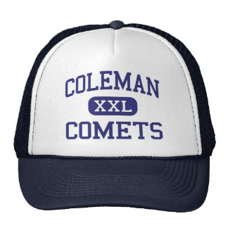Coleman Comets Middle Coleman Michigan Mesh Hats