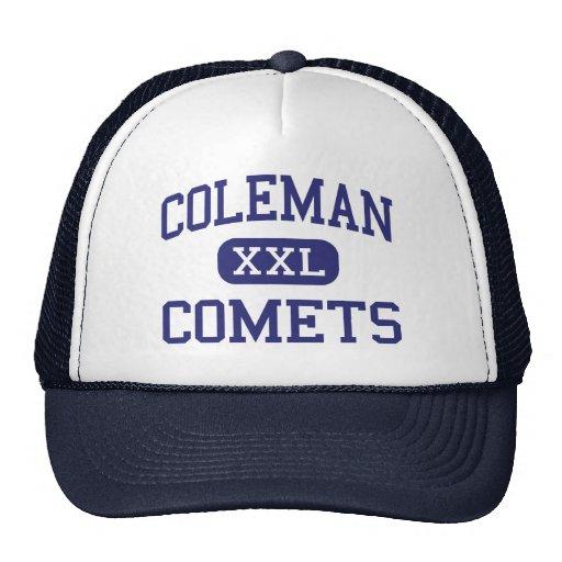 Coleman Comets Middle Coleman Michigan Mesh Hats