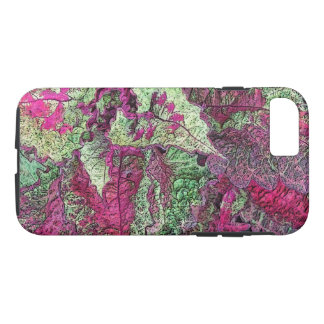 COLEUS LEAVES/PLUM, PINK AND GREEN/DIGITAL EFFECTS iPhone 8/7 CASE