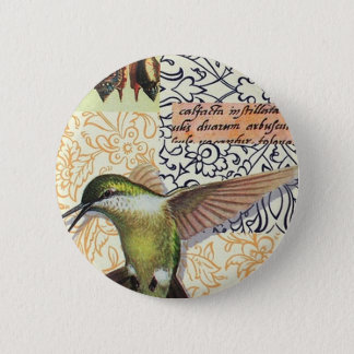 Colibri 6 Cm Round Badge