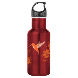 Colibri and Flowers 532 Ml Water Bottle
