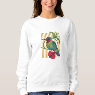 Colibri Bird Gold Stripes Basic Sweatshirt