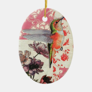 Colibri - Christmas Adornment Oval De Cerámica Ceramic Ornament