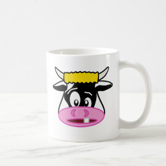 Colin the Crazy Cow Cartoon Coffee Mug