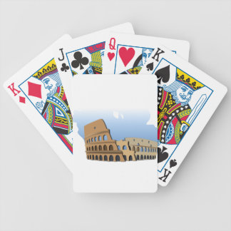 Coliseo Roma Rome Ancient Coliseum History Italy Bicycle Playing Cards