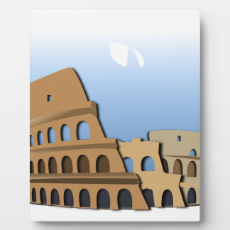 Coliseo Roma Rome Ancient Coliseum History Italy Plaque