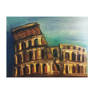 Coliseum Canvas Print by Toryvio