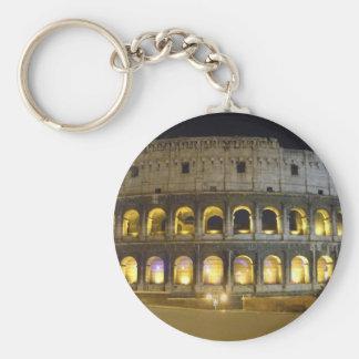 Coliseum of Rome Basic Round Button Key Ring