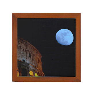 Coliseum of Rome in Moonlight Desk Organisers