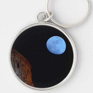 Coliseum of Rome in Moonlight Key Chains