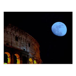 Coliseum of Rome in Moonlight Postcard