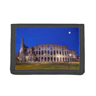 Coliseum, Roma, Italy Trifold Wallets