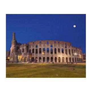 Coliseum, Roma, Italy Wood Print