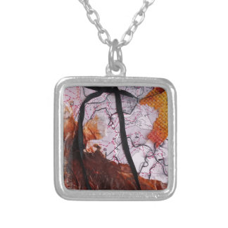 Collage 2 Design Silver Plated Necklace