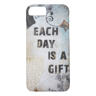 Collage Art With Each Day Is A Gift Quote iPhone 8/7 Case