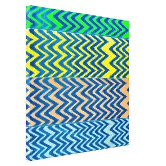 Collage colorful chevron pattern fun chic modern canvas print
