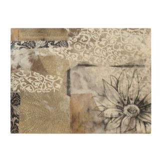 Collage Fleur II Wood Print