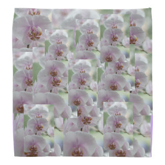 Collage Flowers Blossoms Orchids Personalize Bandanna