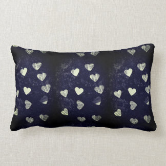 Collage hearts grunge lumbar cushion