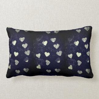 Collage hearts grunge lumbar pillow