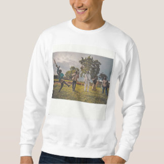 Collage image. Child Soldier Soccer Players Sweatshirt