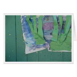 Collage in Green Hues Card