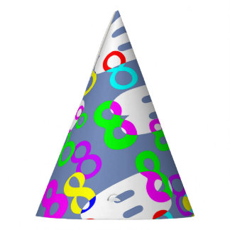 Collage of 8's Party Hat