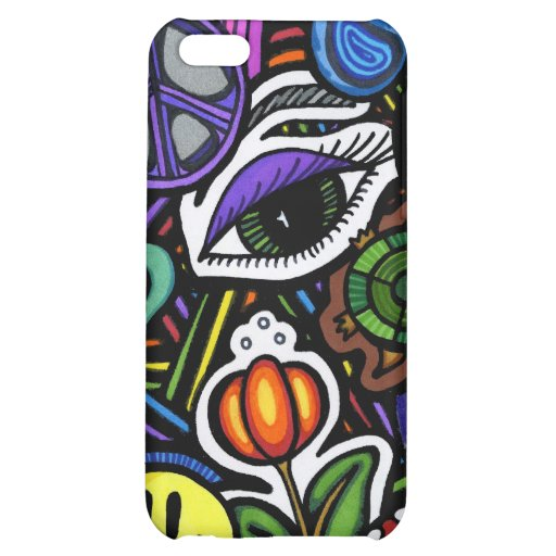 Collage of Bizarre Speck Case iPhone 5C Cover