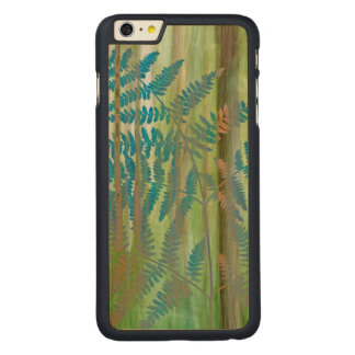 Collage of Bracken Ferns and Forest | Seabeck, WA Carved Maple iPhone 6 Plus Case