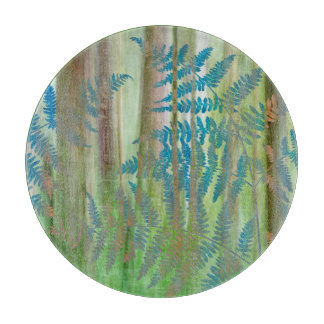 Collage of Bracken Ferns and Forest | Seabeck, WA Cutting Board