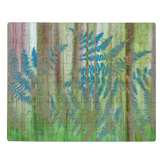 Collage of Bracken Ferns and Forest | Seabeck, WA Jigsaw Puzzle