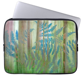 Collage of Bracken Ferns and Forest | Seabeck, WA Laptop Sleeve