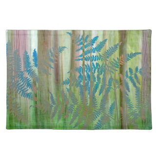 Collage of Bracken Ferns and Forest | Seabeck, WA Placemat