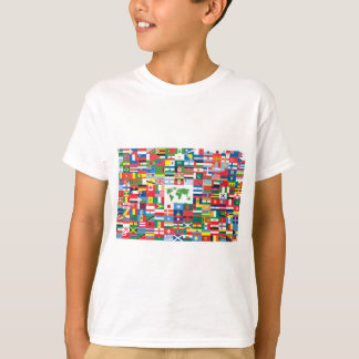 Collage of Country Flags from All Over The World Tshirt
