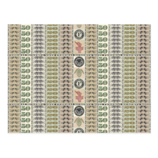 Collage of Currency Graphic Postcard
