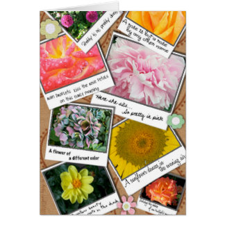 Collage of Flowers Card