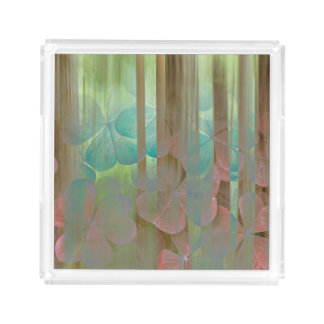 Collage of Oxalis and Trees | Seabeck, WA Acrylic Tray