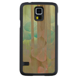 Collage of Oxalis and Trees | Seabeck, WA Carved Maple Galaxy S5 Case
