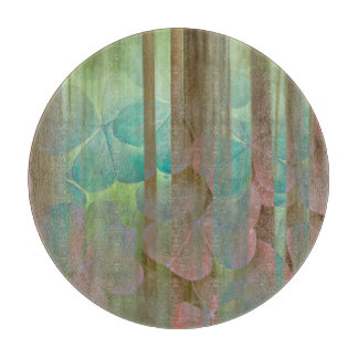 Collage of Oxalis and Trees | Seabeck, WA Cutting Board